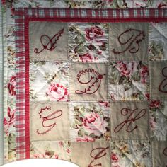Shabby Chic Quilts, Embroidery, Blanket, Holiday Decor, Home Decor, Needlepoint, Decoration Home, Room Decor, Blankets