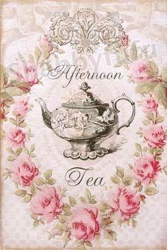 Afternoon Tea 8 x 10 Waxed Canvas Print