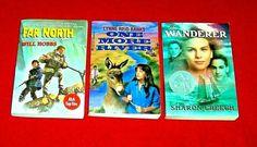 3 Chapter Books Adventure Survival Wanderer Far North Lynne Reid Banks Creech