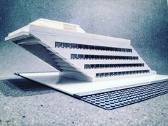 LEGO Brutalist Buildings Sculptures