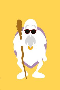 The characters of Dragon Ball Z in minimalist designs -
