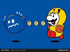 Super Mario + Pac Man= epic! RiptApparel graveyard.