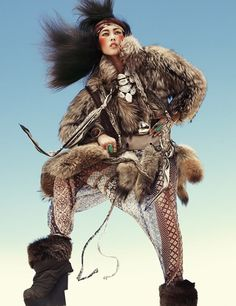 Wild Dreams: Liu Wen by Greg Kadel for Vogue Deutsch November 2010