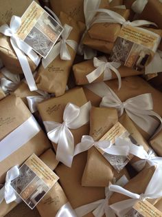 Wrapping in Brown paper, so simply elegant!
