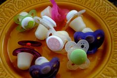 mother's milk popsicles for teething gums. Such a cute idea!