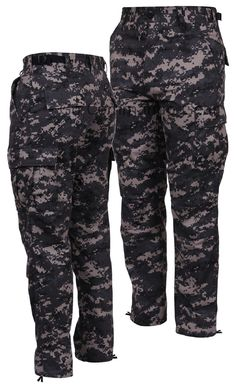 Subdued Urban Digital BDU Pants, Men's Military Tactical Outerwear S-3XL & Long Rothco's Men's Military Tactical BDU Pants Color: Subdued Urban Digital Sizes: Small-3XL (Long Length: Medium-XL) Materi