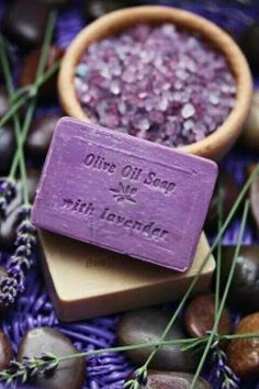 Olive oil soap with lavender