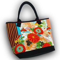 Kawaii!!  Japanese Children's Kimono recycled - Large Tote Bag by Kazuenxx on Etsy