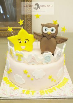 """Natasha just turned 1. She loves the song """"Twinkle Twinkle Little Star"""", so her mom requested for us to make cake with her favorite characters from the video"""