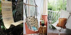 If you want to make a hanging chair by yourself, here are 12 creative ideas for you!