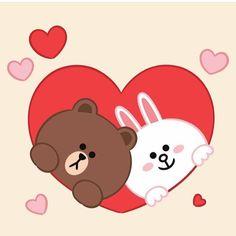Love Cartoon Couple, Cute Love Cartoons, Arte Do Mickey Mouse, Cony Brown, Cute Bear Drawings, Bear Paintings, Bunny Drawing, Cute Love Gif, Bunny And Bear