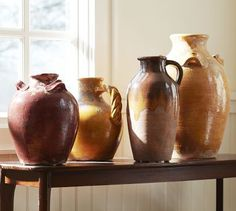 pottery barn vases - I have these, in white :)