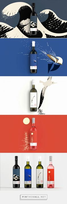 Happy Hour | AIGA Eye on Design curated by Packaging Diva PD. Fun nautical inspired Ploés Wines, by Beetroot Design Group packaging collection.