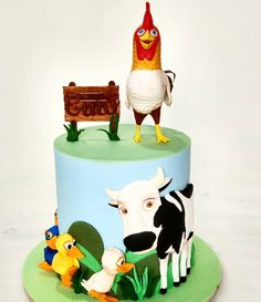 Ideas Para Fiestas, Salvador, Fondant, Christmas Ornaments, Holiday Decor, Birthday, Sweet, Cakes, Farm Animal Party