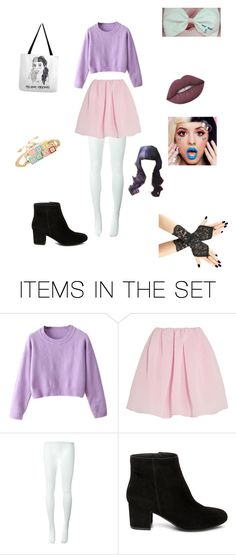 """""""Melanie Martinez Halloween costume in so excited. yaya"""" by vanessa-saunders ❤ liked on Polyvore featuring art"""