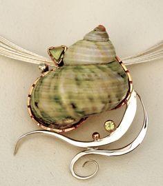 green turban slide - barbara umbel jewelry design