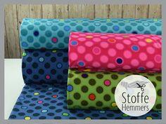 Softshellstoffe mit Neonpunkte jetzt kaufen bei stoffe-hemmers.de fabric softshell dots