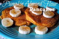 Pumpkin Almond Flour Pancakes - Perfect for fall!