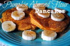 Pumpkin Almond Flour Pancakes - Perfect for fall!