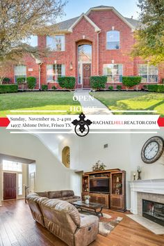 OPEN HOUSE:  Sunday, November 19 from 2:00 to 4:00 PM in FRISCO