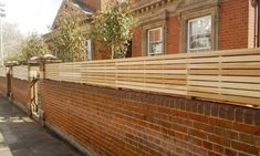 Garden Fence Panels 7 Ft and Modern Fence Design Philippines. Brick Fence, Front Yard Fence, Cedar Fence, Fenced In Yard, Stone Fence, Bamboo Fence, Timber Walls, Red Brick Walls, Slatted Fence Panels