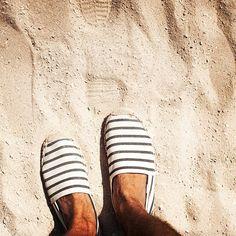 Stripes + sand = perfection. #soludossummer #soludos #regram @grantlegan