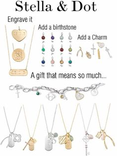 Girls love these charms and engraveables from Stella and dot! Shop for kids jewelry, little girls jewelry, flower girl jewelry & more at: http://www.stelladot.com/sites/anneliesekight