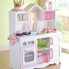 Little chefs can cook in their very own kitchen! This set comes with everything your kid needs to make all their favorite foods! From CPToys.com