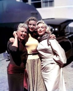 With Betty Grable and Marilyn Monroe while filming How to Marry a Millionaire, 1952.
