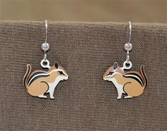 Chipmunk Earrings