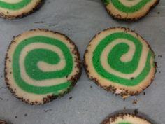 My Christmas swirl cookies.