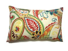 Decorative Pillow Cover Lumbar Multicolored by LynnesThisandThat