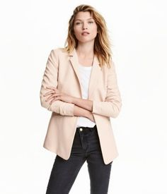 Powder. Fitted jacket in a soft, woven fabric with two welt front pockets…