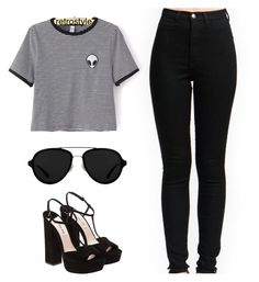 """""""Black and gray"""" by queen-ken ❤ liked on Polyvore featuring Miu Miu and 3.1 Phillip Lim"""