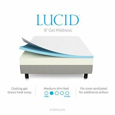 LUCID 8 Inch Memory Foam Mattress - Dual-Layered - CertiPUR-US Certified - Medium-Firm Feel - Twin Size // Buy It now http://bestmattressreview.us/product/lucid-8-inch-memory-foam-mattress-dual-layered-certipur-us-certified-medium-firm-feel-twin-size/