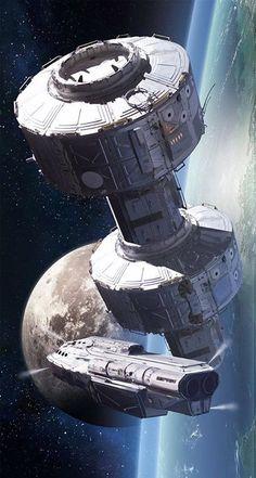 "sciencefictionworld: ""Space Station"" by Long Pham.beautifulwarbirds@gmail.comTwitter: @thomasguettlerBeautiful WarbirdsFull AfterburnerThe Test PilotsP-38 LightningNasa HistoryScience Fiction WorldFantasy Literature & Art"