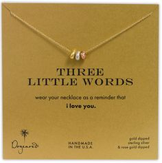 So..I am officially obsessed with all dogeared necklaces. I want them all :)