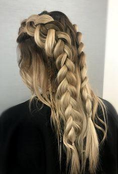 Loose braids. Festival hair.