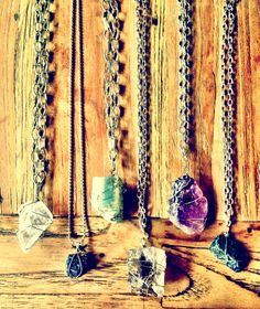 stone chunk necklaces