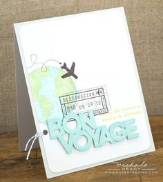 Bon Voyage Card by Nichole Heady for Papertrey Ink (January 2013)
