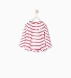 Organic cotton striped T-shirt-T-shirts-Baby girl-Baby | 3 months - 3 years-KIDS | ZARA United States