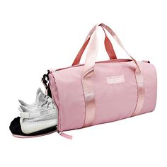 b0f1241f4e15 Ativafit Women Gym Bag with Shoes Compartment Sports Swim Travel Overnight  Duffels Pink