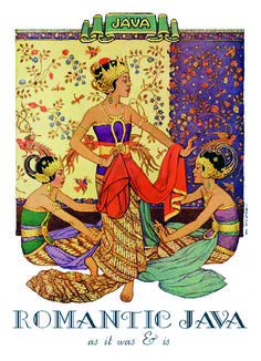 Romantic-Java, Indonesia (southeast Asia) Vintage Advertisements, Vintage Ads, Vintage Images, Vintage Posters, Art Deco Illustration, Floral Illustrations, Old Poster, Poster City, Indonesian Art