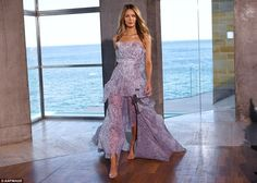 Jennifer Hawkins takes to the catwalk for Myer launch | Daily Mail Online