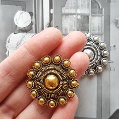 gouden zeeuwse knop magneet voor koelkast en magneetbord - € 6,95