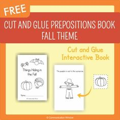 "FREE Fall Theme Spatial Concepts Cut and Glue Mini-Book!This printable cut and glue mini-book targets the prepositions  ""in, on, behind, next to, and under"" with fall animals and items. Also, great for practicing answering ""where"" questions!If you like this product you may also like:Interactive Sentence Flips - Prepositions and Where Questions - Fall ThemeFall Theme Interactive Adapted Book Pack Dollar DealWhere Questions Adapted Book and Activities - VehiclesWho Questions Adapted Book and…"
