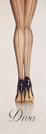 Seamed stocking ~ but HATE the word Diva.