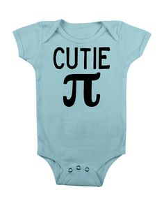 ba6bfbe5c Cutie Pi Pie Bodysuit Baby Girls Boys Clothes CLothing - Math Geek Funny  Pun Science Nerd Geeky Teacher Cute Unique Toddler- Cutie Pi