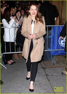 Emilia Clarke + Coat