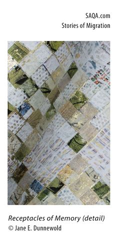 """""""Receptacles of Memory"""" (detail) - art quilt by Jane E Dunnewold"""